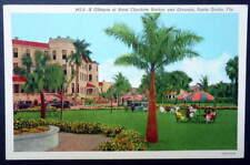 LINEN POSTCARD HOTEL CHARLOTTE HARBOR & GROUNDS PUNTA GORDA FLORIDA #4X
