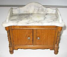 Antique German Schneegas doll house marble sideboard or washstand