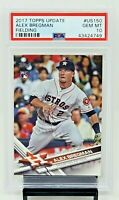 2017 Topps Update Astros ALEX BREGMAN Rookie Baseball Card PSA 10 GEM MINT!
