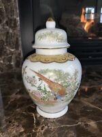 VINTAGE SATSUMA GINGER JAR WITH PEACOCK - MADE IN JAPAN ARNART Ceramic With Lid