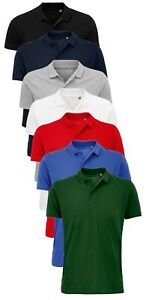 SOLS Mens Unisex Organic Cotton Pique Short Sleeve Polo Shirt S - 5XL