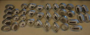 36 Vintage Mormatt Tartlet Tins Tart Molds 6 Designs Made in Sweden Jello Soap