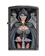 Zippo 211 Skull Woman Warrior Medival Full Size Lighter