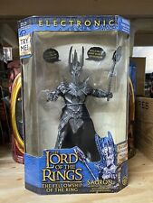 Toybiz Lord Of The Rings Fellowship of the Ring Electronic Sauron New Rare Blue