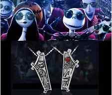 The Nightmare Before Christmas Jack Lisa Couple Pendant Necklace Jewelry Gift