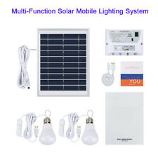 Solar Powered Lighting System  Emergency Light Lighting Kit for Camping Outdoor