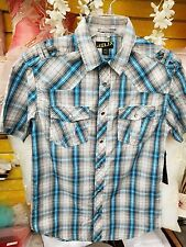 Boy's Helix Atletic Fit Button Up Short Sleeve Shirt - New with Tags - Small