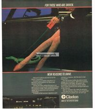 1983 CLARION Car Audio Cassette Deck Player Woman's Shapely Legs  Vtg Print Ad