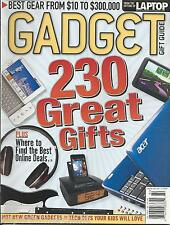 Gadget Gift Guide magazine Laptops Computers Cell phones GPS Camcorders Audio