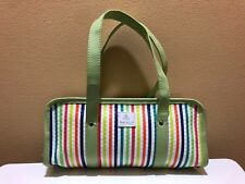 Partylite Candle Tote Bag Purse Green Striped Consultant Retired New