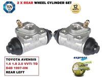 pour Toyota Avensis 1.6 1.8 2.0 VVTI TD D4D 1997- > 2 x CYLINDRE DE ROUE ARRIÈRE