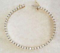 5 Carat Round Diamond Link Tennis Ladies Bracelet 14K Yellow Gold Over 8""