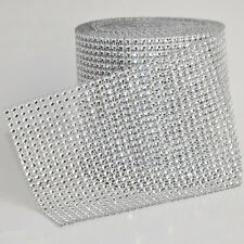 Diamond Rhinestone Ribbon Mesh Wrap Floral Decoration Supply For Wedding Party