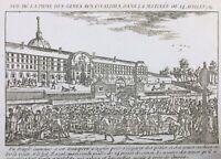 Hôtel des Invalides 14 Juillet 1789 Paris Rare Gravure Révolution Française