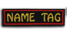 CUSTOM Your Name Tag PATCH Embroider Motorcycle Biker HOOK & LOOP / IRON ON /SEW