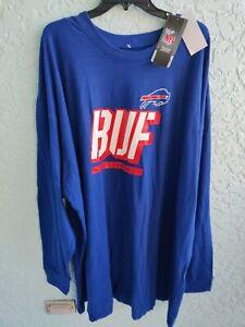 NFL Buffalo Bills Majestic Blue Long Sleeve Men's T-Shirt Size 5XL Big/Tall NWT!