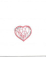FRANCE 2012.PATCH D'AMOUR D' ADELINE ANDRE.TIMBRE AUTOADHESIF CACHET ROND.N° 648