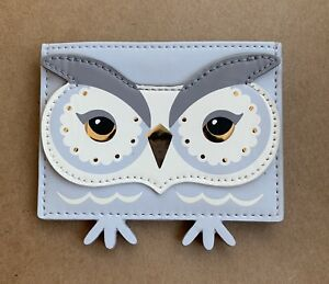 Kate Spade Star bright Night Owl Card holder Credit Card Case Mini Wallet NWT