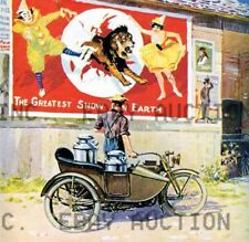 Harley-Davidson with sidecar Barnum Bailey circus Poster ca 8 x 10 print poster