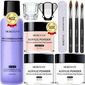 Morovan Acrylic Nail Kit - Acrylic Powder and Liquid Set with Professional Ac...