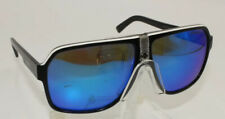 CARRERA 33/S 8V6Z0 62-11 Sunglasses Black White & Grey w/ Blue Mirror Lenses