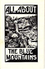 All About the Blue Mountains NSW Govt Tourist Bureau Travel Booklet Australia