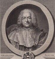 Portrait XVIIIe René De Maupeou Marquisat Mothe Chandeniers Vicomte de Bruyères
