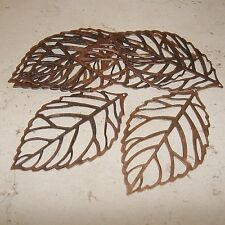 Leaf Pendant Drop Metal Base Red Copper - 10pcs.