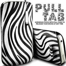 Cuero lunares y cebra lengüeta Funda + Stylus Para diversos Zte teléfonos móviles