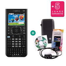 TI Nspire CX CAS Grafikrechner + Schutztasche /-Folie Ladekabel Lern-CD Garantie