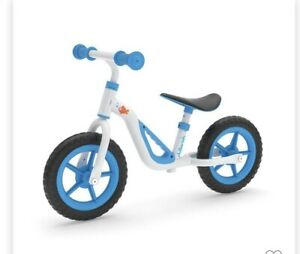 "Chillafish Charlie 10"" Kids Balance Bike Blue/White Ages 18-48 Months New in Box"