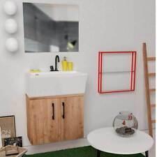 Mobile da bagno sospeso con lavabo in ceramica Xilon Block 60 -57X26X59 LAVAB 65