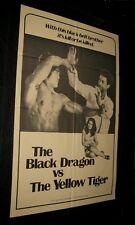 Original Black Dragon Vs The Yellow Tiger Clint Robinson Jack Pierce France Tang