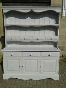 Painted Pine Dresser Sideboard with Four Spice Drawers and Three Cupboard Doors
