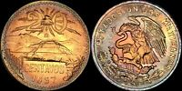 1967-Mo MEXICO 20 CENTAVOS CENTS COLOR TONED HIGH GRADE BU UNCIRCULATED