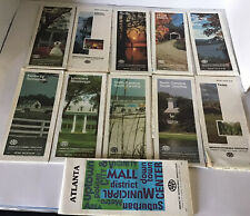 Lot Of 11 Vintage Road Maps Triple AAA 10 State Maps & 1 Atlanta all From 1980's