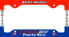 Puerto Rico  LICENSE PLATES FRAME 2 HEART BEAT