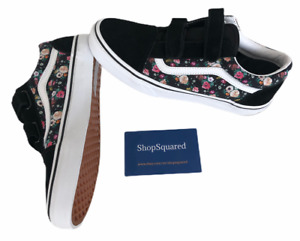 VANS OLD SKOOL V (BUTTERFLY FLORAL) STRAP BLACK SZ WOMENS 7.5 / YOUTH 6 NEW 🔥