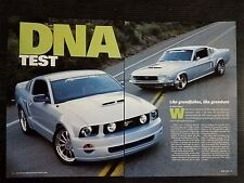 1967 Ford Mustang vs 2005 Ford Mustang  - 6 Page Article - Free Shipping