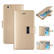 Korean Mercury Rich Diary Double Wallet Case for iPhone 6 Plus - Gold