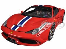 FERRARI 458 SPECIALE RED ELITE EDITION 1/18 DIECAST MODEL CAR HOTWHEELS BLY31