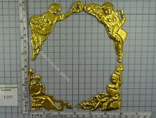 BRASS THIN FOILS OF 4 SEASONS FOR AROUND THE DIAL OF ANTIQUE FRIESIAN TAIL ClOCK