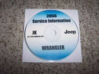 2008 Jeep Wrangler SUV Shop Service Repair Manual CD X Unlimited Sahara RHD