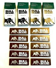 BULL BRAND EXTRA SLIM MENTHOL FILTER TIPS with 10 x LIQUORICE ROLLING CIG PAPERS