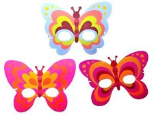 12 X Butterfly Foam Masks FANCY DRESS PARTY BAG FILLERS FACE MASK