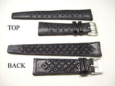 Vintage Rubber 1960s Watch Strap Band 19mm Tropical style Perforated NOS Diver