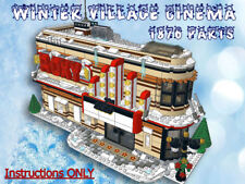 Lego Winter Village CINEMA-Instructions only-Fit 10216 10222 10249 10199 etc