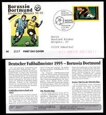 Deutscher Fußballmeister 1995-Borussia Dortmund.FDC(2)-Brief+Beschreib.BRD 1995