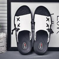 Mens  Men slip on Slippers  Beach slippers Summer light foot-covering sandals