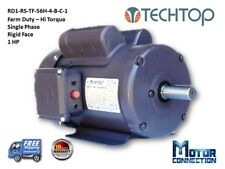 1 HP Electric Motor, Farm Duty, 1800RPM,  Single Phase, 56H, Rigid Base